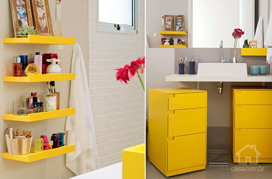 Banheiro com Decoração Amarela