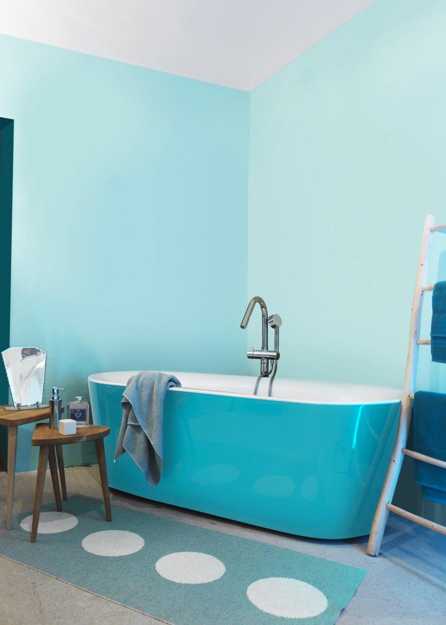 Combinando Cores na Decoração: Banheiro com Decoração Azul
