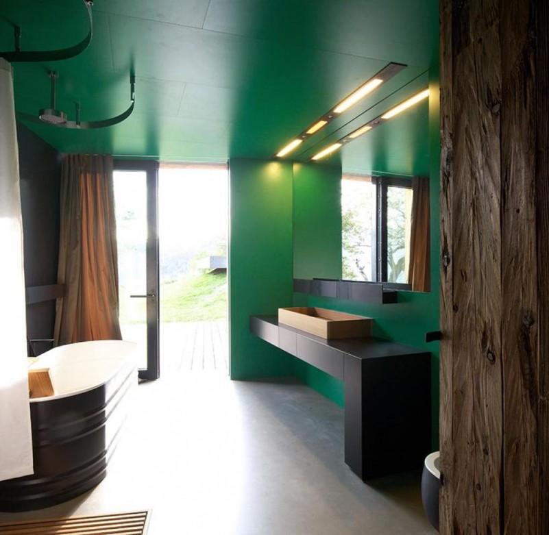 Combinando Cores na Decoração: Banheiro Verde