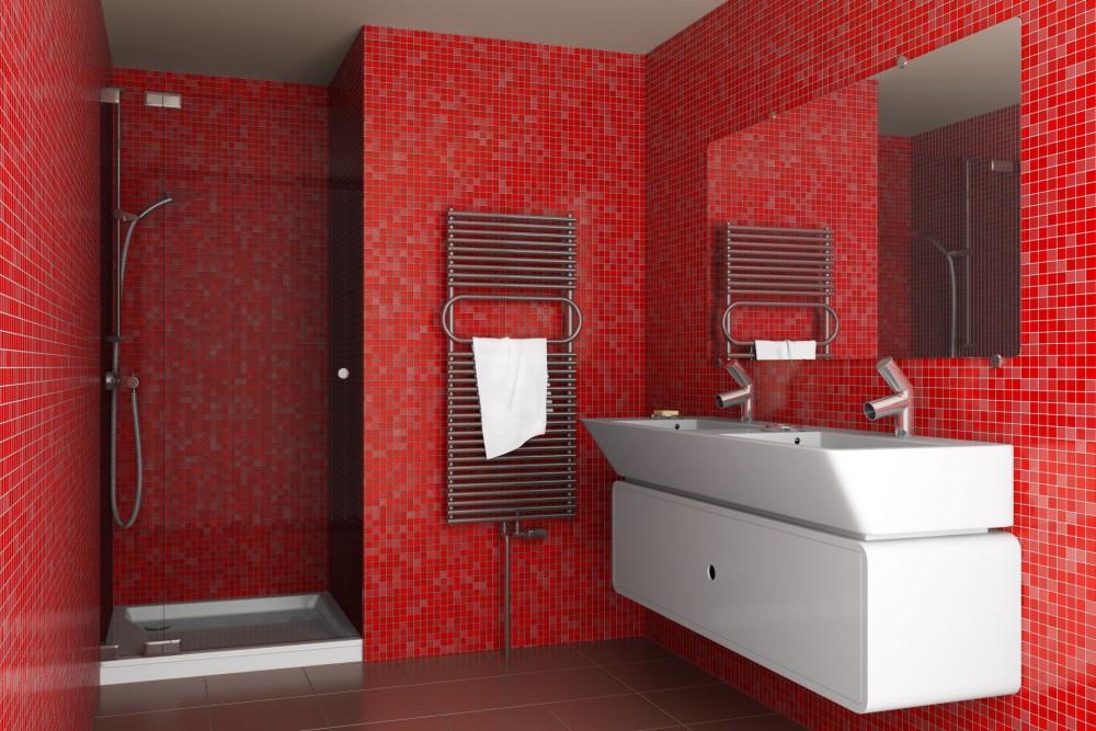 Combinando Cores na Decoração: Banheiro Vermelho