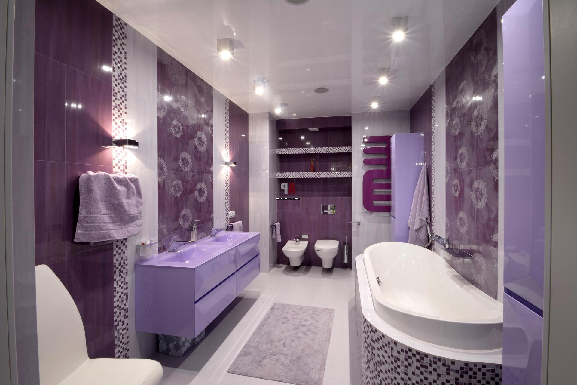 Combinando Cores na Decoração: Banheiro Violeta
