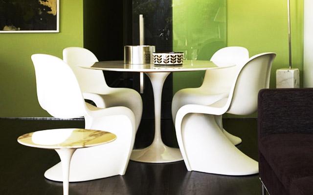 Decoração Apartamento Pequeno: Cadeiras Panton