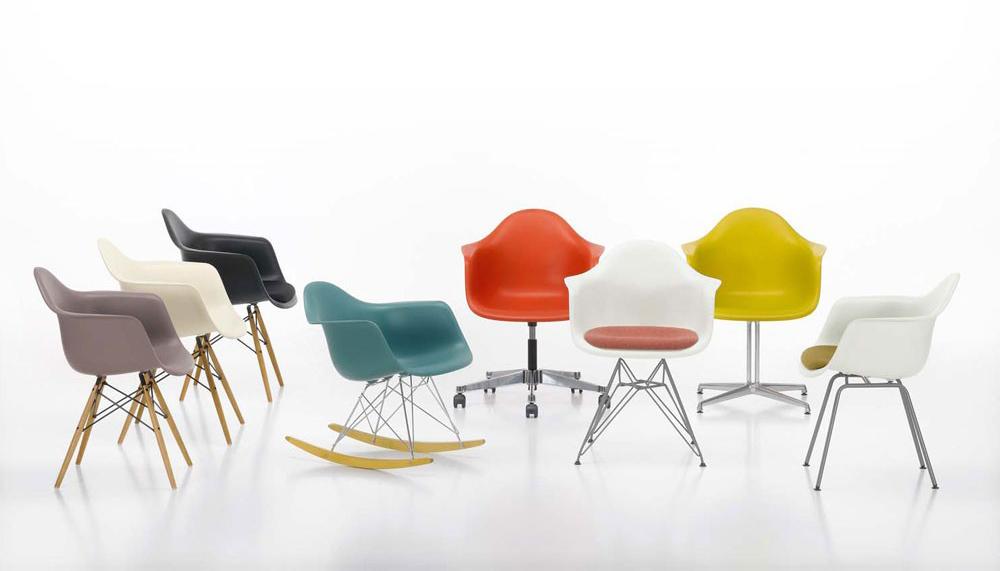 Alguns modelos de Cadeiras do Casal Eames