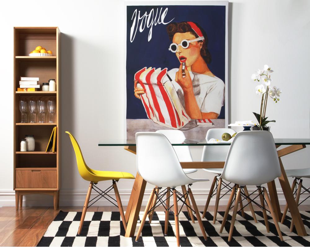 Cadeiras DSW do Casal Eames