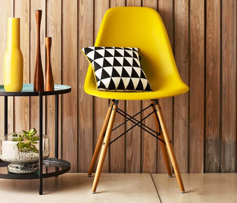 Cadeiras DSW Amarela - Design do casal Eames