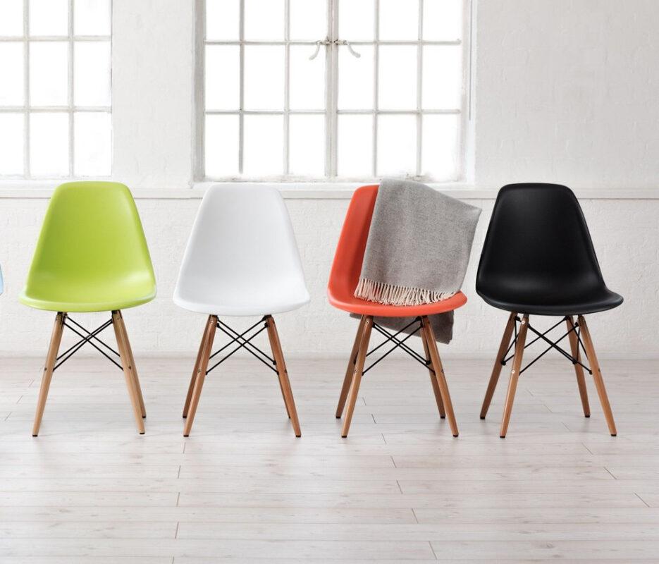 Cadeiras DSW coloridas - Design do Casal Eames