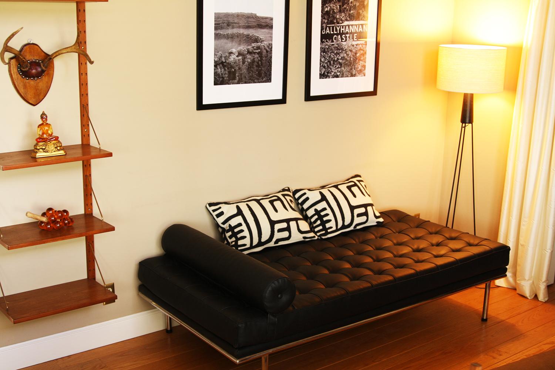 Couch Barcelona como sofá em cômodo pequeno