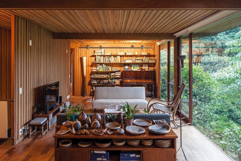 madeiramento em toda casa - Decoração em Madeira
