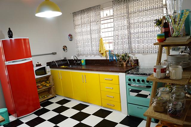 piso-xadrez-na-decoracao-da-cozinha