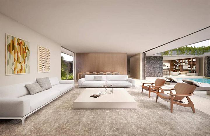 Salas minimalistas - como decorar