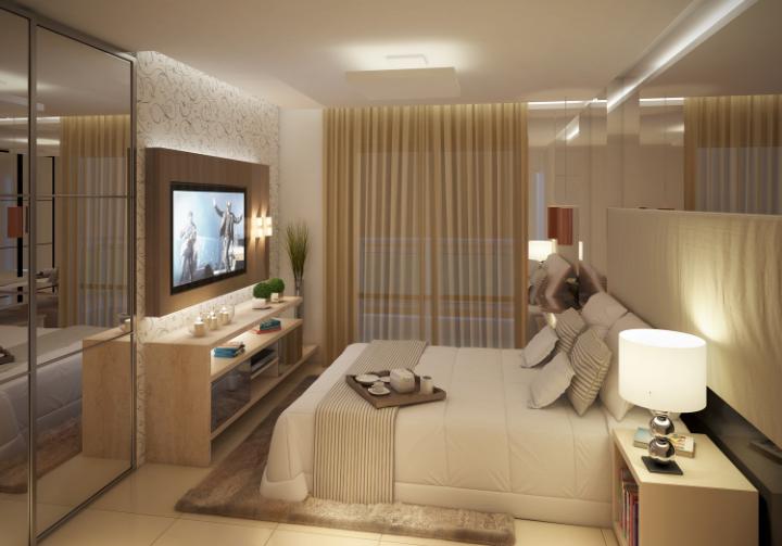 Como decorar um quarto de casal com tv