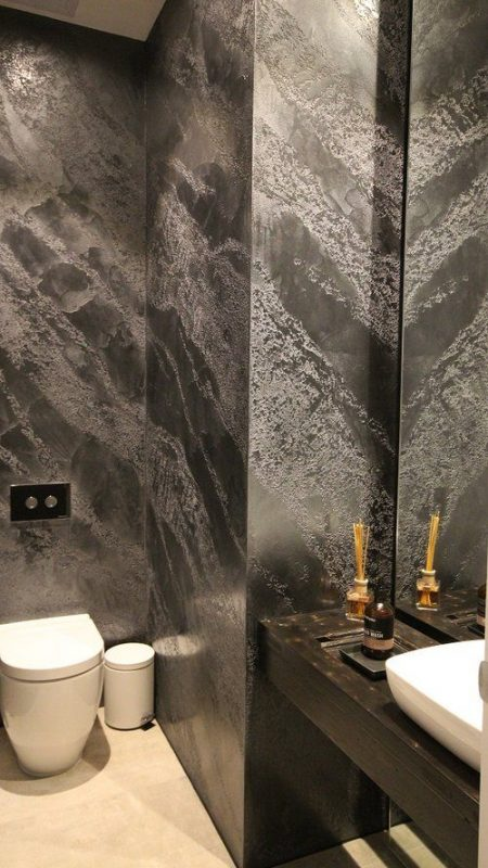 banheiro com parede de gesso