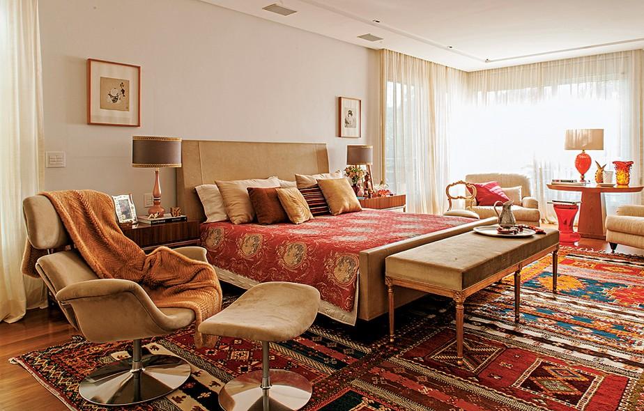 como decorar um quarto de casal com tapeçaria