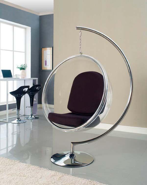 Bubble Chair com Suporte de Chão
