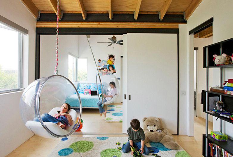 Bubble Chair em Quarto Infantil
