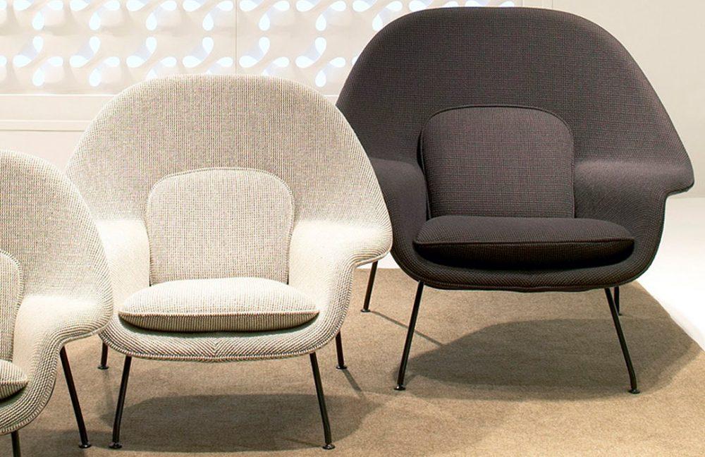 Womb Chairs com base preta