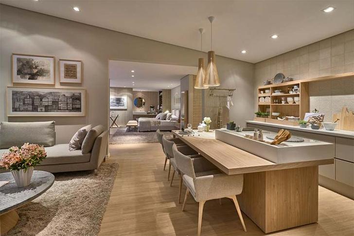 Sala de Estar integrada com a Cozinha