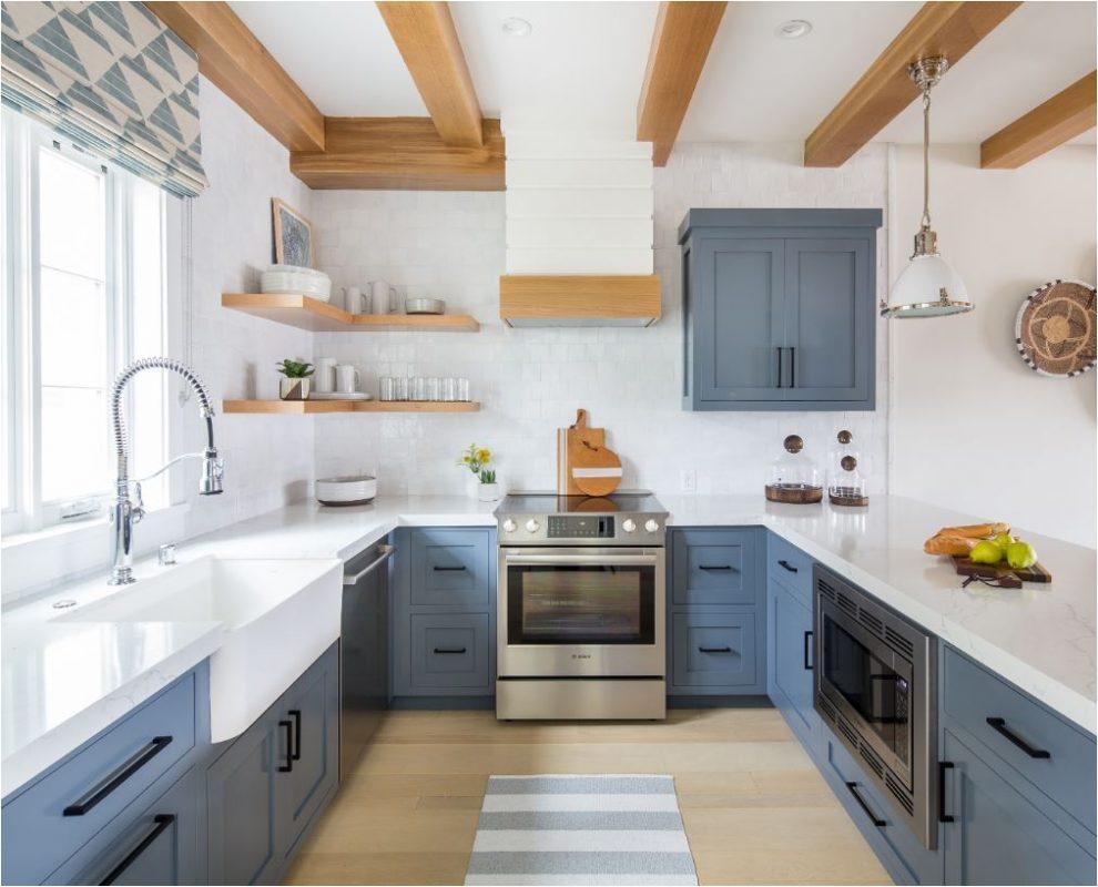 classic blue cozinha clean