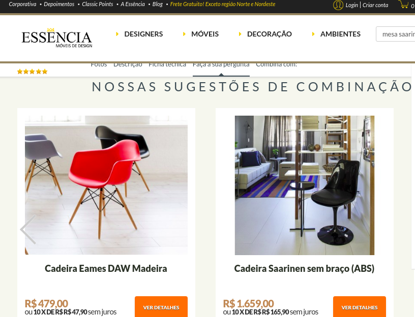 sugestoes do site essencia